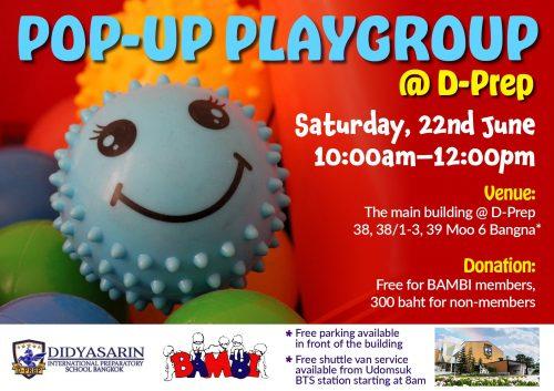 Pop Up Playgroup at D-Prep International School