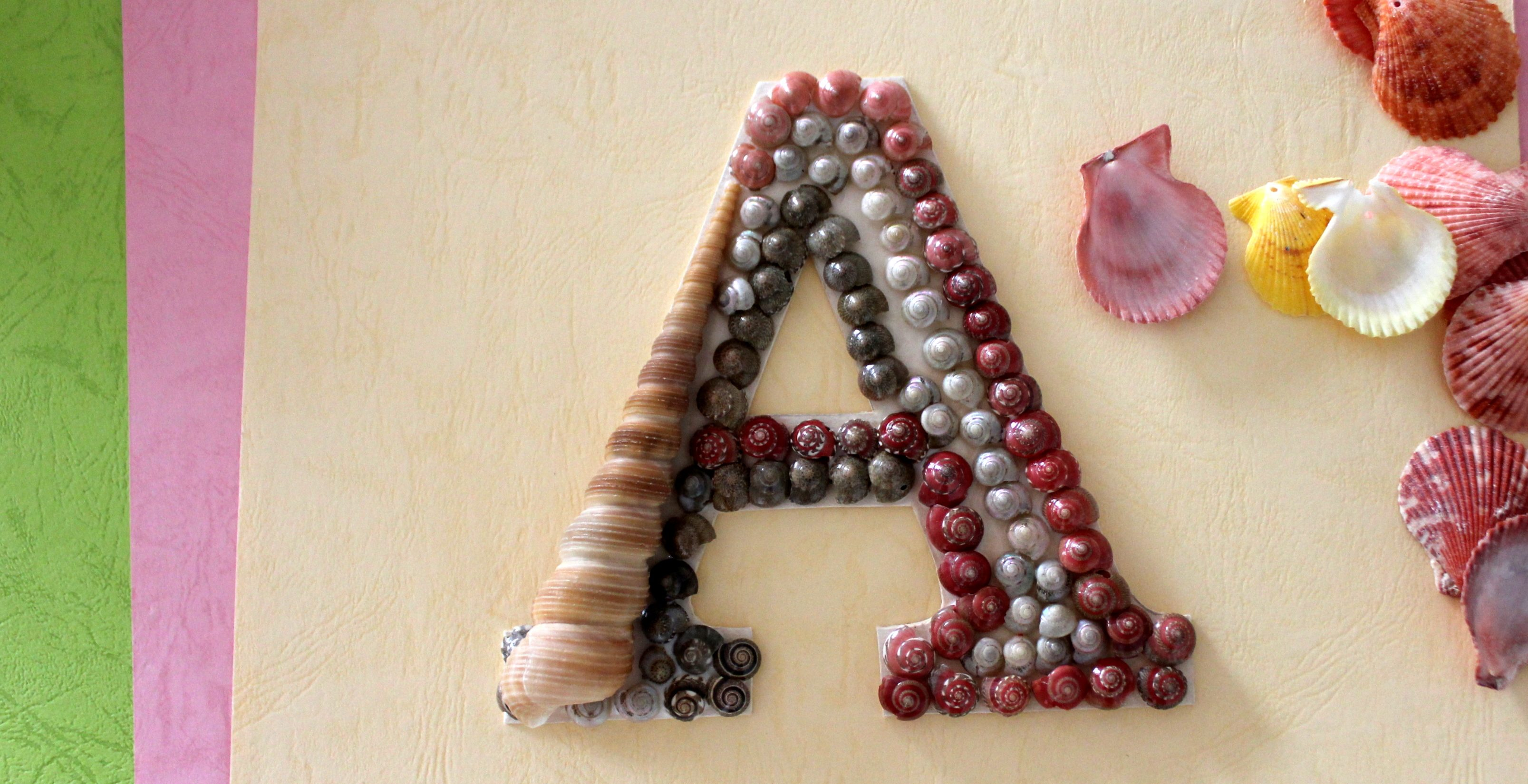 Creative Kids: Monogram with Seashells