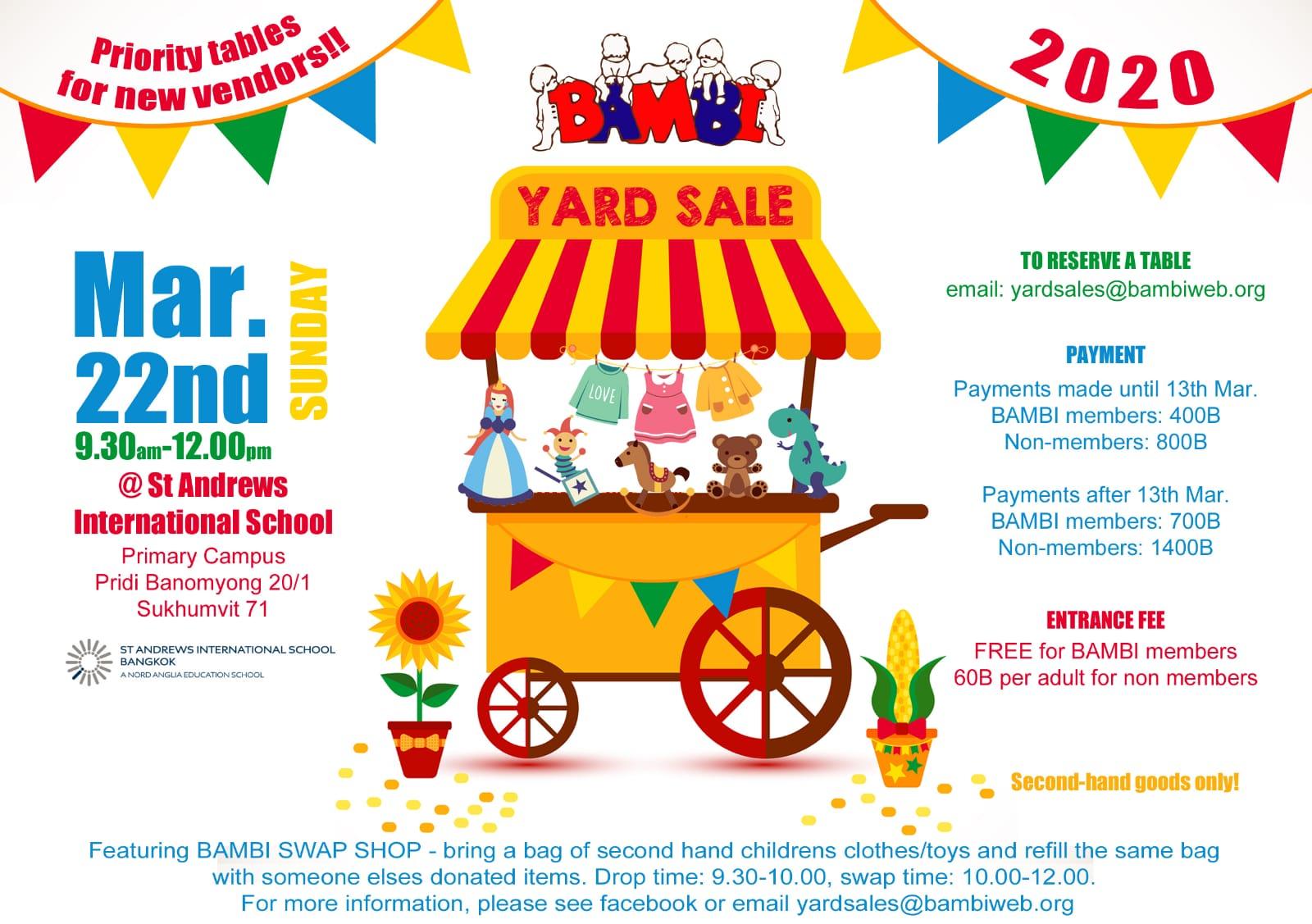 BAMBI Yard Sale & Swap Shop