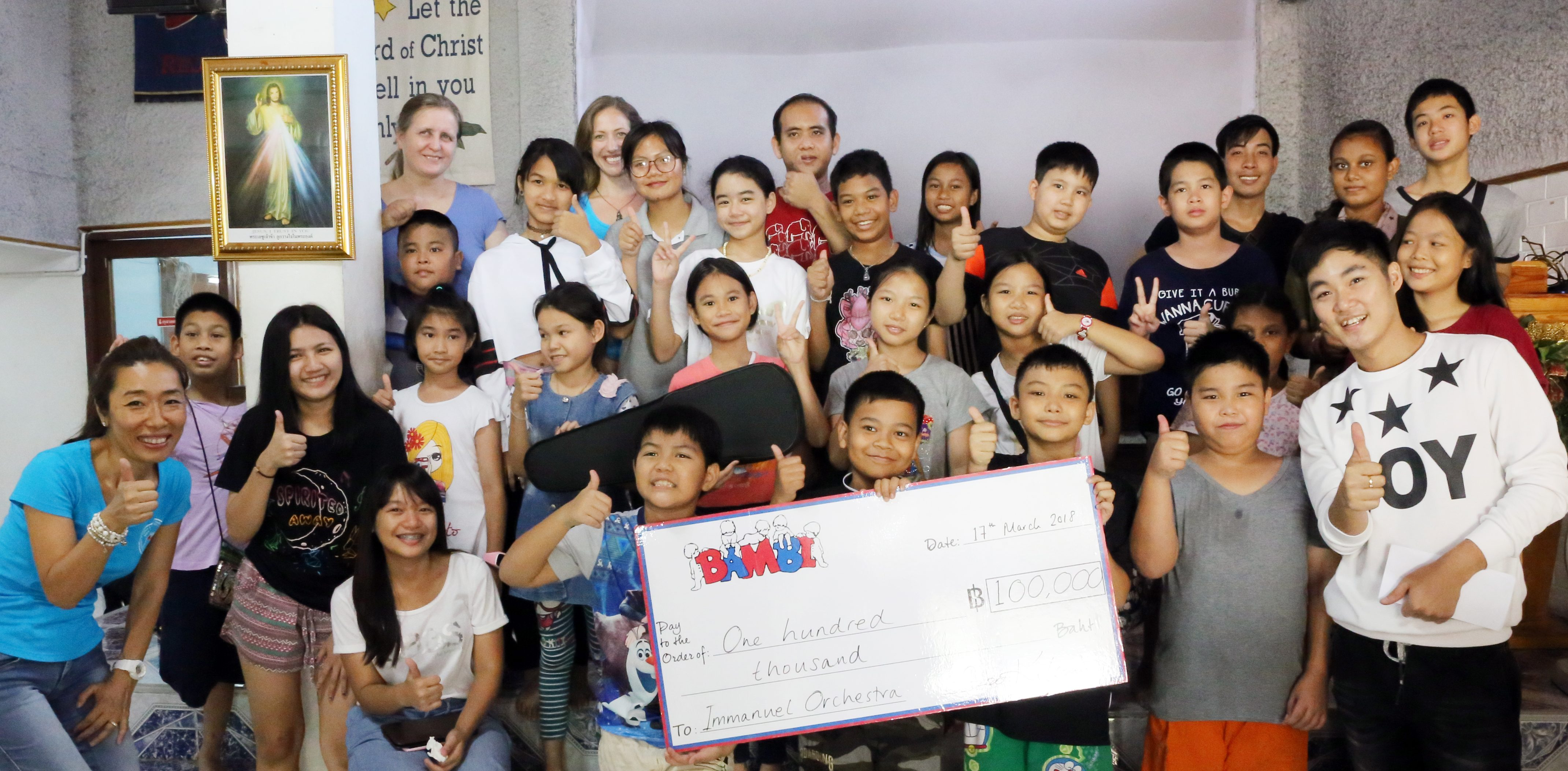 BAMBI Donates ฿100,000 to Immanuel Music School