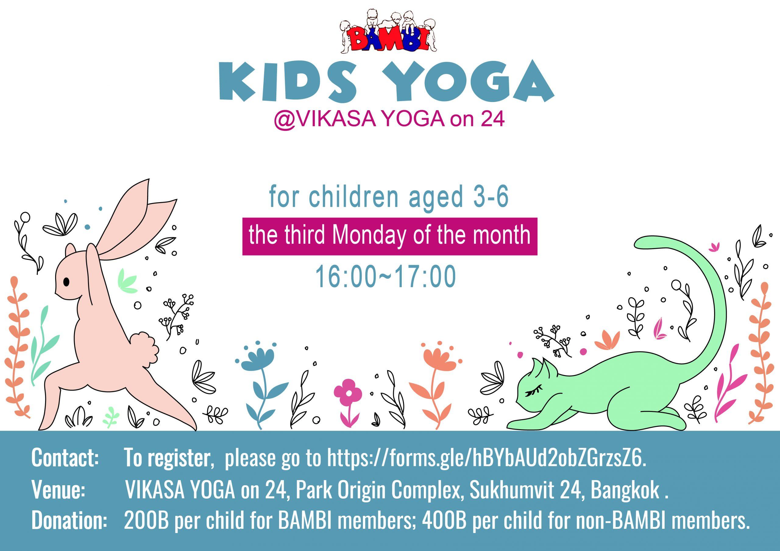 Kids Yoga @ Vikasa Yoga on 24