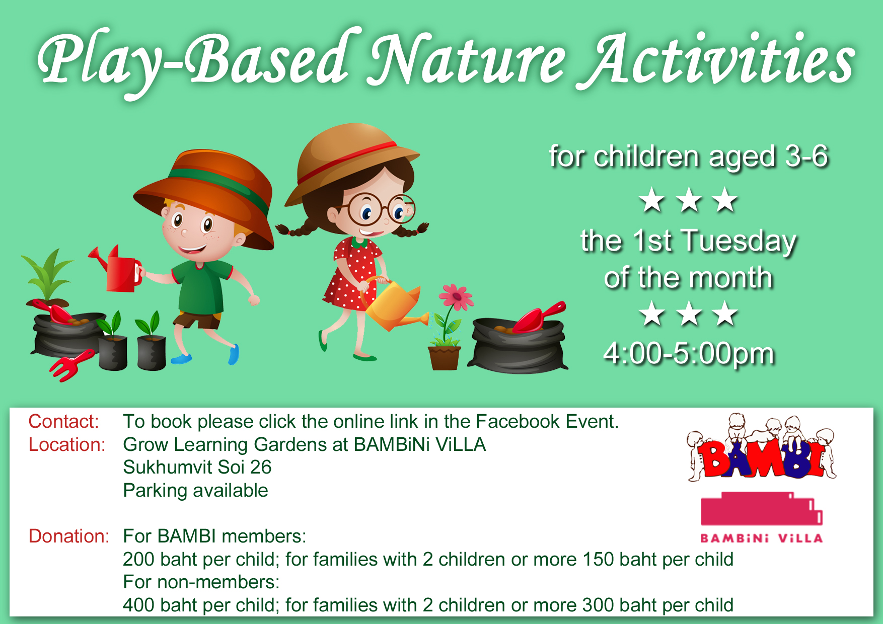 Play Based Nature Activities @ Bambini Villa