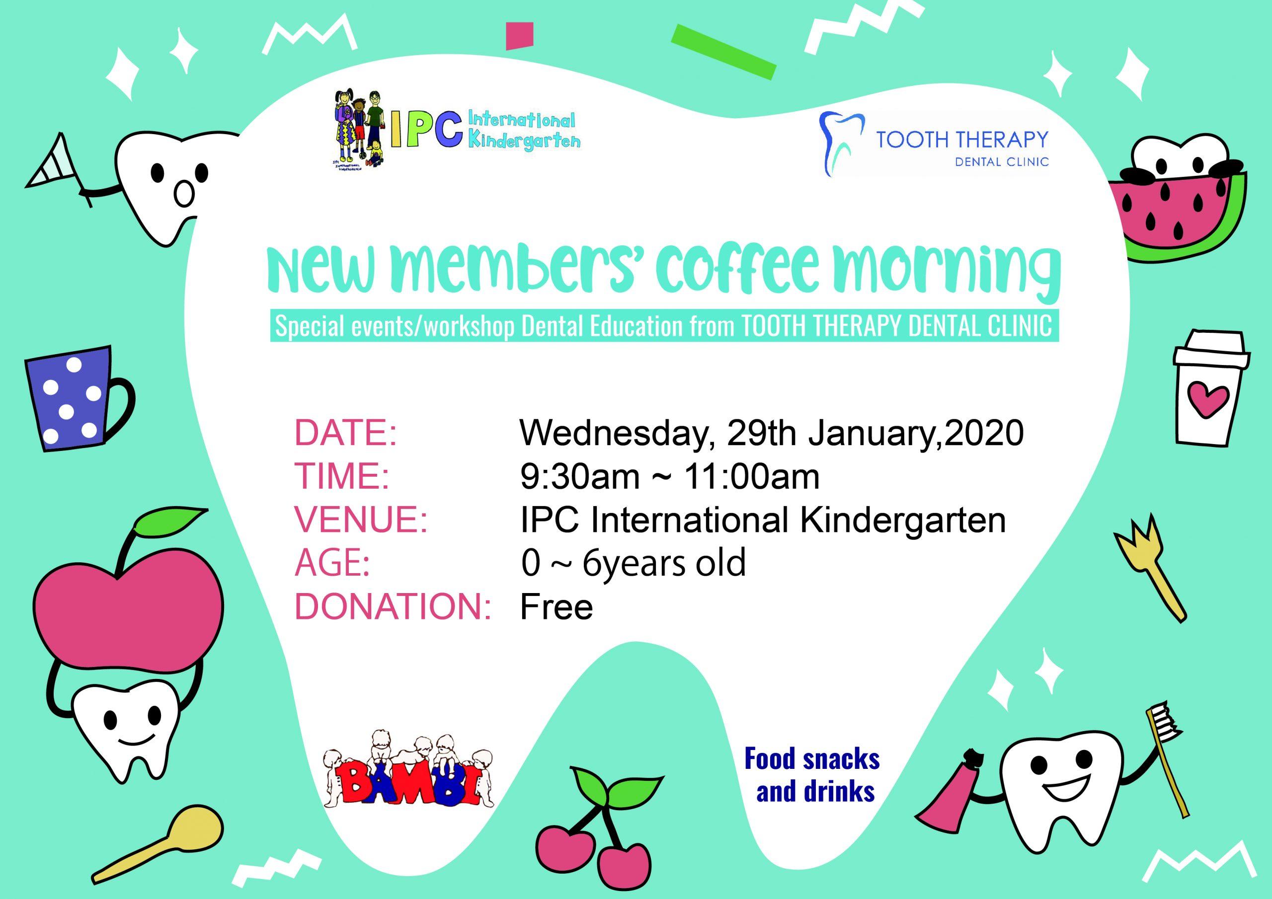 New Members' Coffee Morning