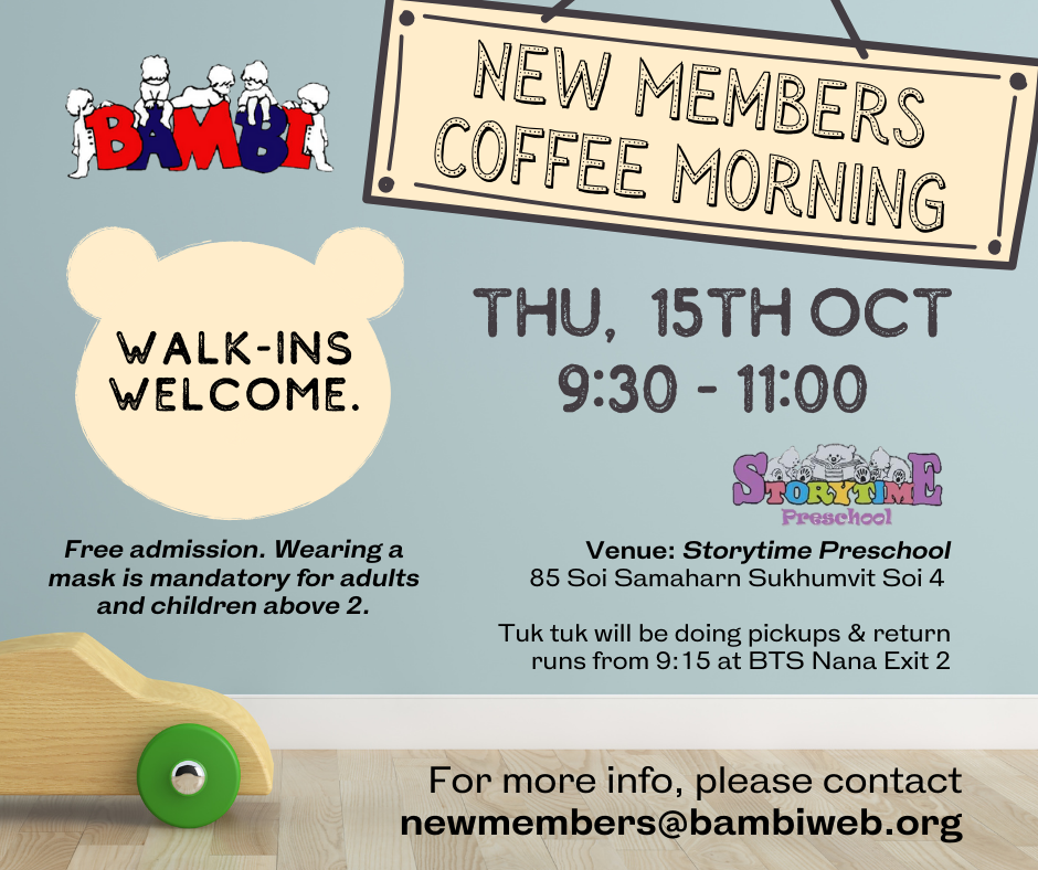 New Members Coffee Morning at Storytime Preschool
