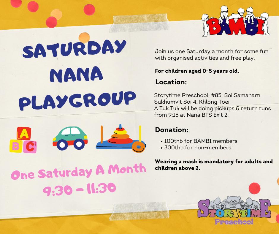 Saturday Nana Playgroup