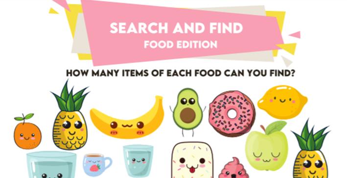 Fun Corner: Search and Find – Food